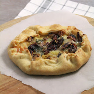 Pears, Roquefort, Pecans and Cranberries Savory Tart.