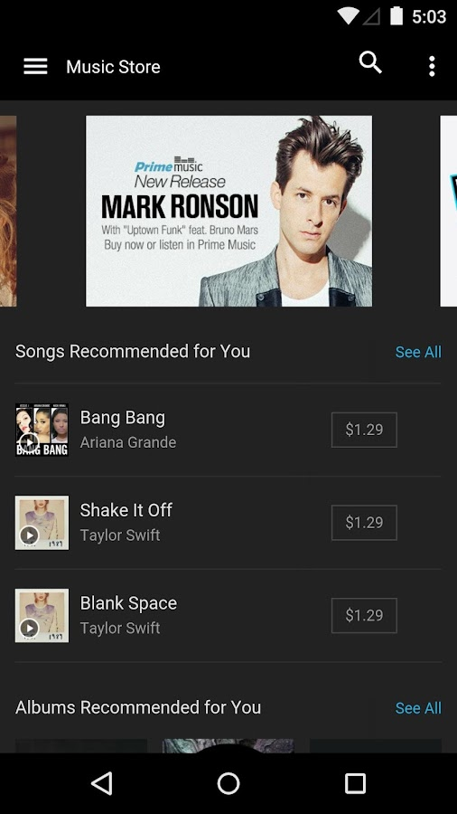 Amazon Music with Prime Music - screenshot