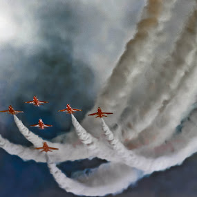 Red Arrows by Deleted Deleted - Transportation Airplanes