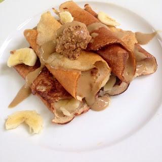 Peanut Butter Banana Crepes