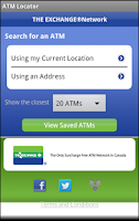 Screenshot of THE EXCHANGE® ATM Finder
