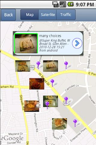 NearbyFeed Friend, Place - screenshot