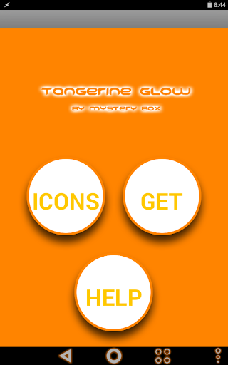 Tangerine Glow Icon Pack