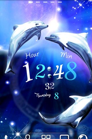 Dolphin Blue ライブ壁紙 トライアル