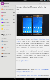 Android News - screenshot thumbnail