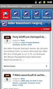 Adler Mannheim Fanprojekt- screenshot thumbnail