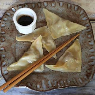 Pork Dumplings with Simple Dipping Sauce.