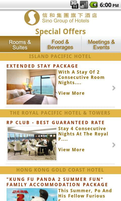 Sino Group of Hotels - screenshot