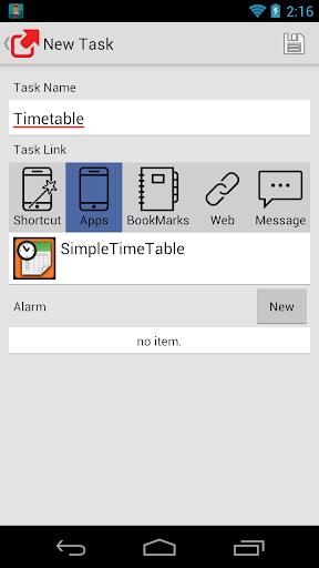 Simple app running alarm