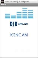 Screenshot of KGNC-AM