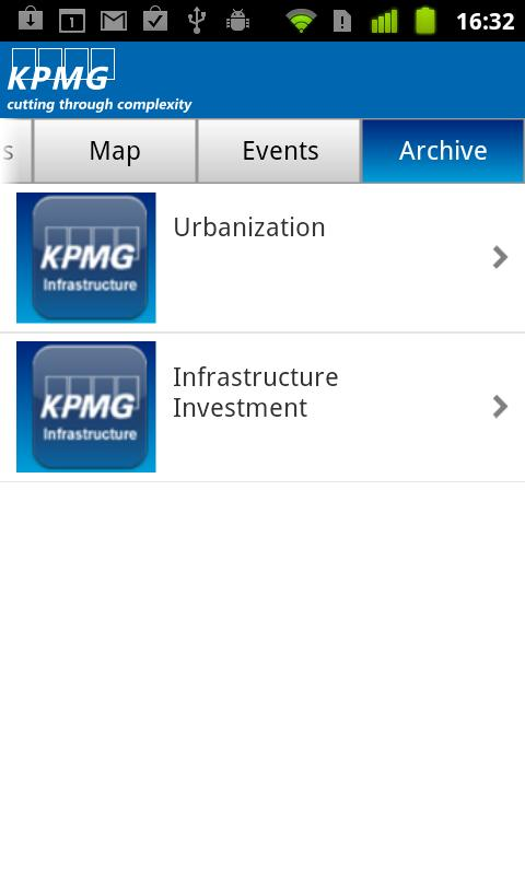 KPMG Infrastructure - screenshot