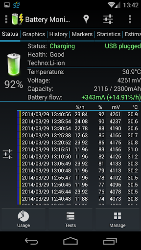 3C Battery Monitor Widget Pro para Android