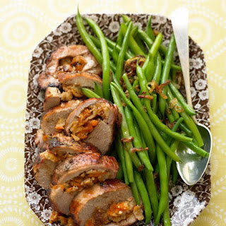 Pork Loin Stuffed with Figs and Apricots.