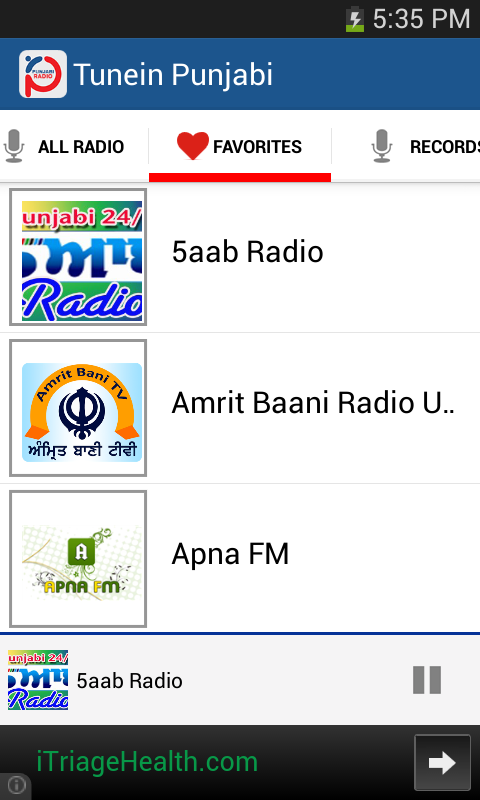 Tunein Punjabi - screenshot