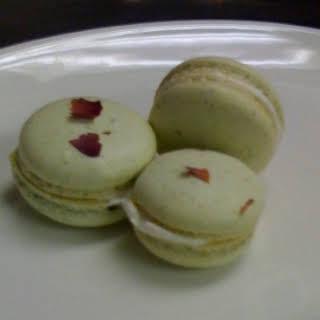 Pistachio Rose Macarons.