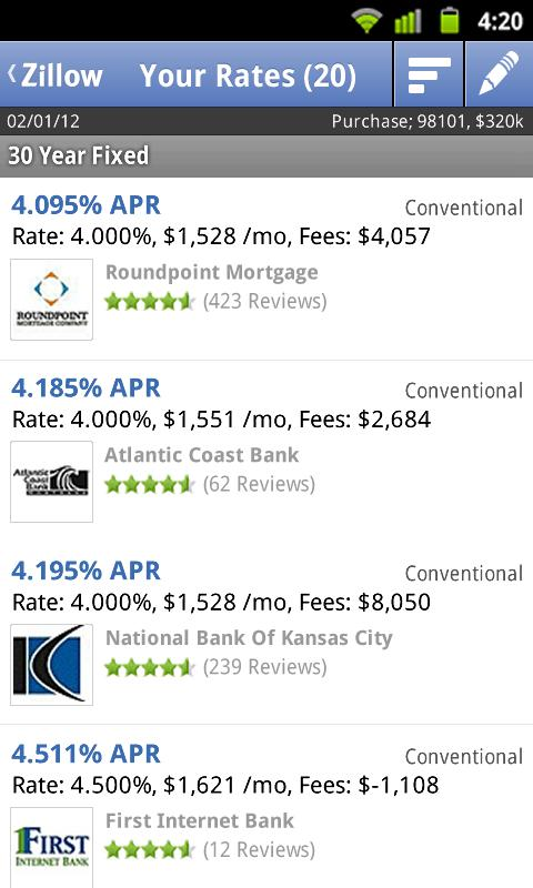 Mortgage Calculator and Rates - screenshot