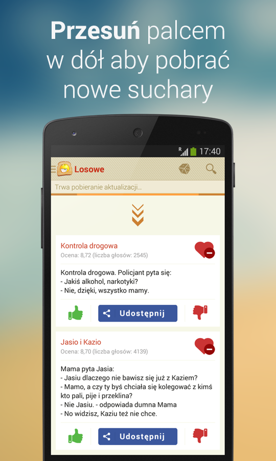 Suchary - kawały i dowcipy- screenshot