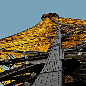 Eiffel Tower by Miren Etcheverry - Buildings & Architecture Bridges & Suspended Structures ( eiffel tower, paris, building, structure, eiffel, france, architecture, steel, suspended )