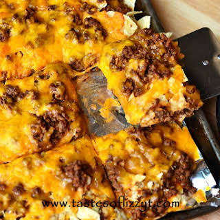 Tortilla Chip Mexican Pizza.