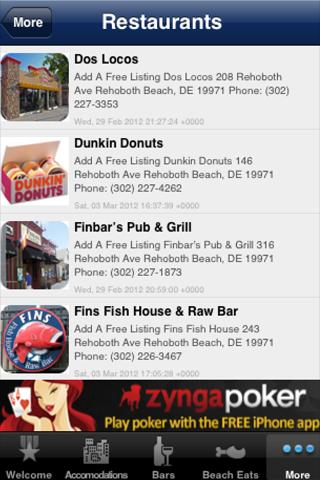 Rehoboth Beach Visitor's Guide- screenshot