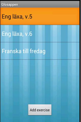 Glosappen- screenshot