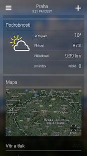 Yahoo Počasí - náhled