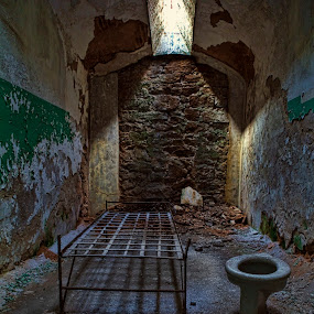Dead Prison Cell by Jack Turkel - Buildings & Architecture Decaying & Abandoned ( old, prison, rust, decaying, abandoned, building )