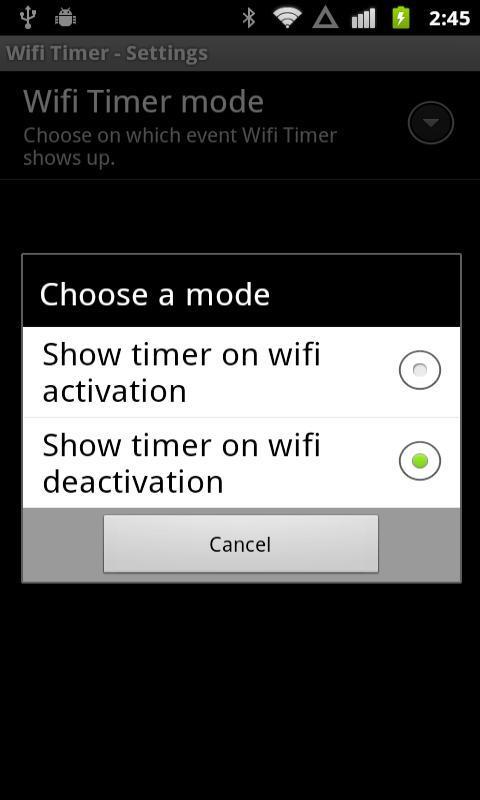 Free WiFi Timer - screenshot