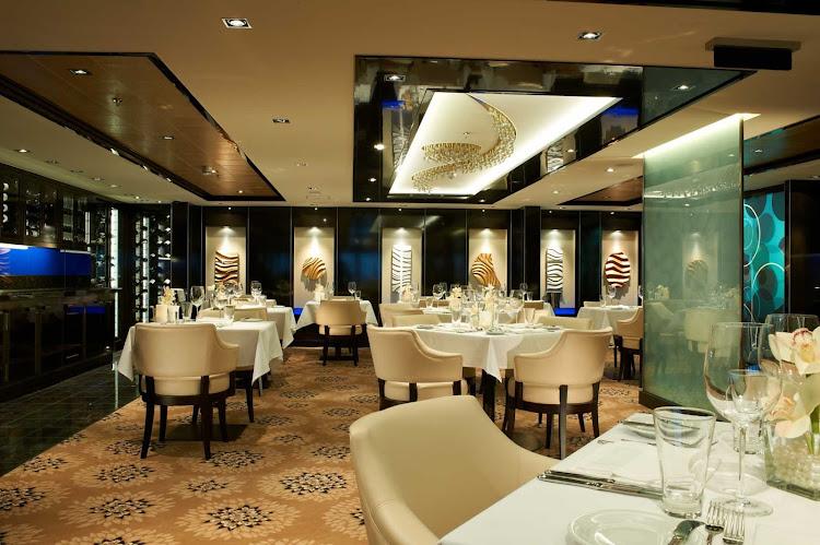 Enjoy your meals at The Haven, one of Norwegian Breakaway's elegant restaurants.