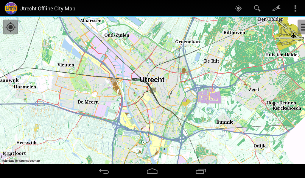 Utrecht Offline City Map- screenshot