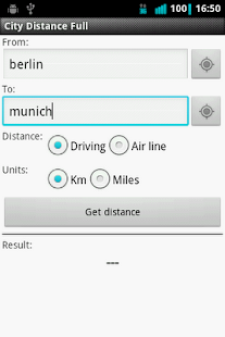City Distance Full