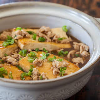 Chinese Braised Tofu with Ground Pork.