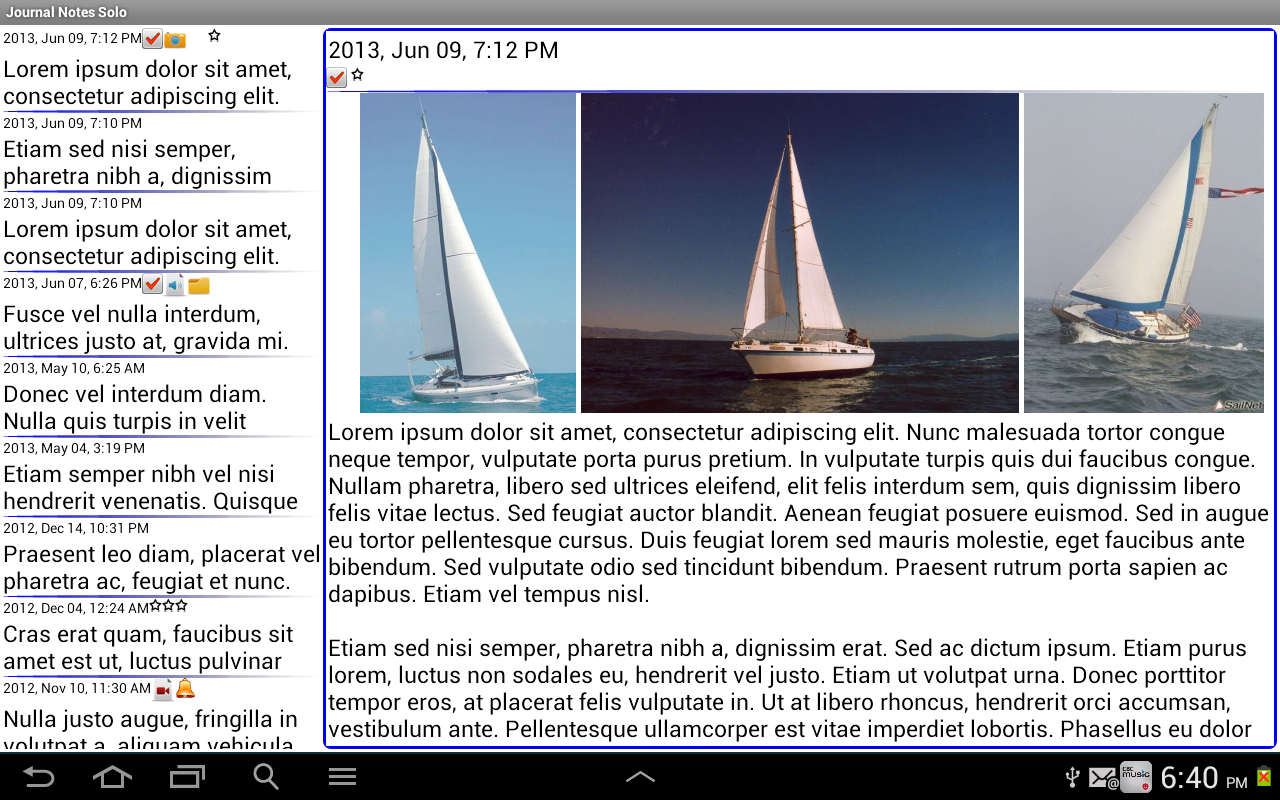 Journal Notes Multimedia- screenshot