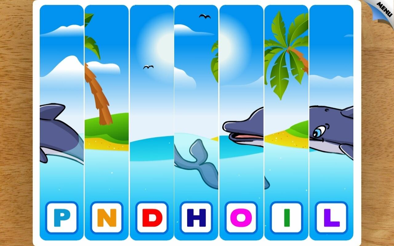Kids Animal First Words Puzzle- screenshot