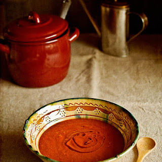 Bell Pepper and Roasted Tomato Cream Soup.