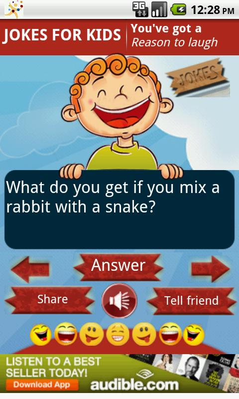 Funny Jokes for Kids - screenshot