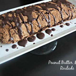 Flourless Peanut Butter Mocha Roulade
