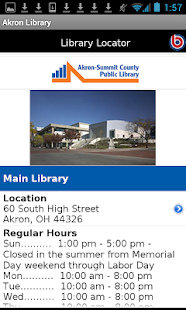 Akron Public Library- screenshot thumbnail