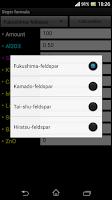 Screenshot of Seger formula (pottery)