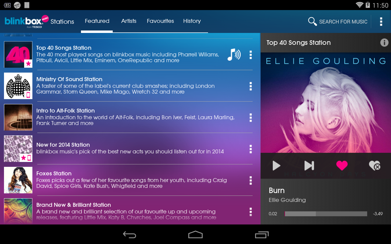 blinkbox music - screenshot