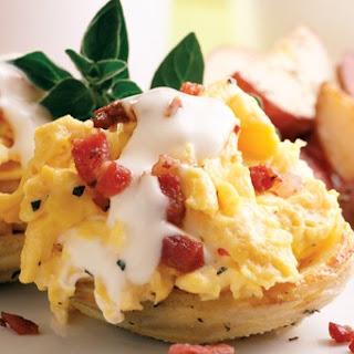 Artichoke Scrambled Eggs Benedict