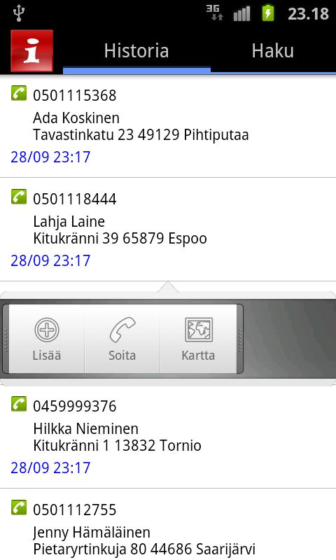 CallerInfo - screenshot
