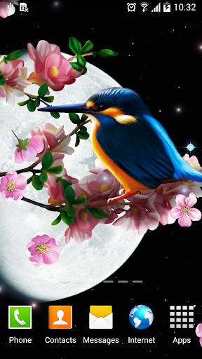 Sakura and Bird Live Wallpaper