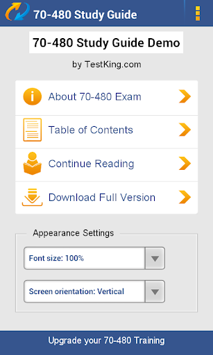 MCSD 70-480 Study Guide Demo