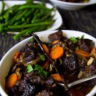 Slow Cooked Port & Vanilla Beef Cheeks
