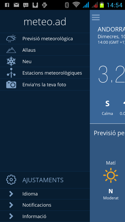 Meteo Andorra- screenshot