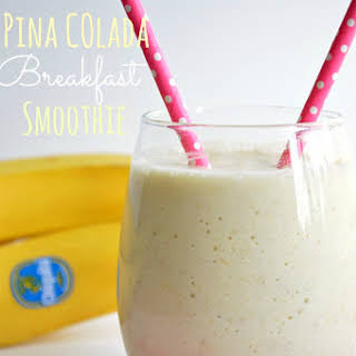 Pina Colada Breakfast Smoothie.