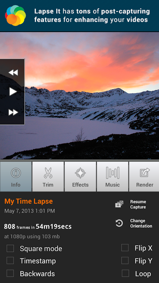 Lapse It • Time Lapse Camera- screenshot