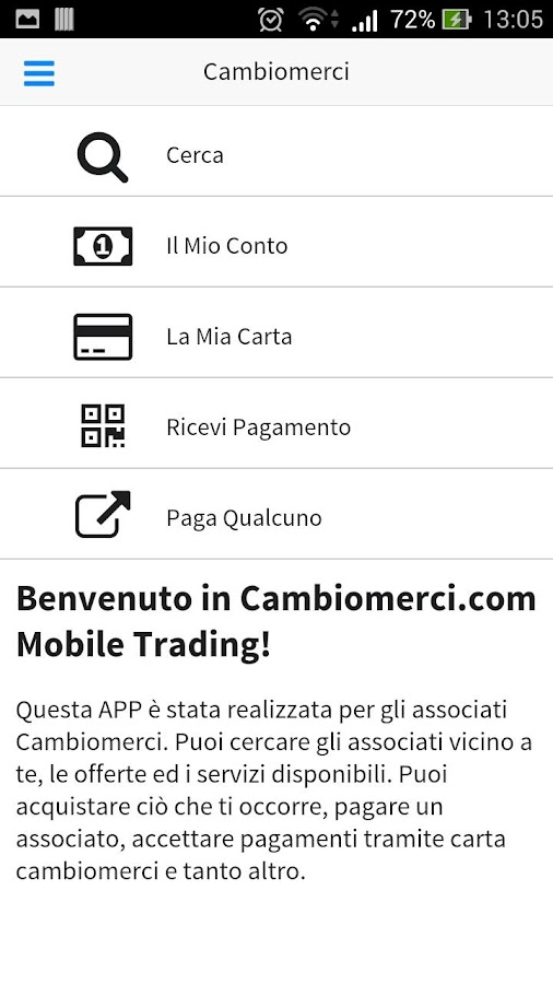 Cambiomerci- screenshot