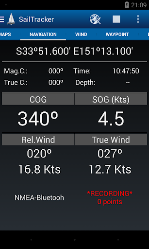 Sailtracker screenshot